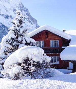 Skiurlaub in der Berghütte