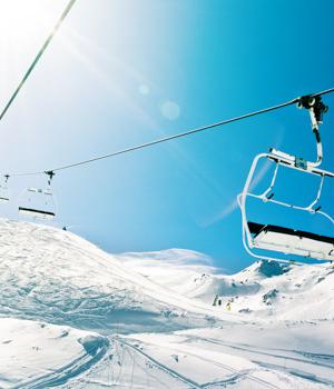 Skiurlaub in den Bergen